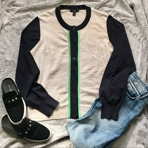 J. Crew Knit Button Down Long Sleeve Sweater Top